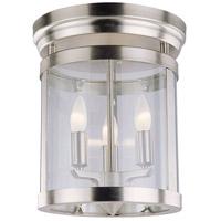 DVI DVP4432SN Niagara 3 Light 12 inch Satin Nickel Flush Mount Ceiling Light