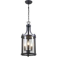 DVI DVP4475HB-CL Niagara 3 Light 10 inch Hammered Black Outdoor Hanging Lantern