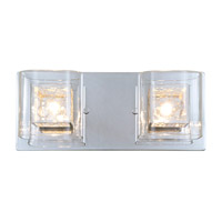 Trilogy 2 Light 15 inch Chrome Bathroom Vanity Wall Light
