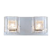 DVI Lighting Trilogy 2 Light Bathroom Vanity in Chrome with Clear Glass DVP5822CH