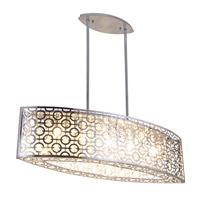DVI Lighting Eclipse 5 Light Linear Pendant in Chrome with Crystal Droplets DVP5832CH-CRY