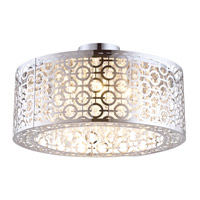 DVI Lighting Eclipse 3 Light Semi Flush Mount in Chrome with Crystal Droplets DVP5834CH-CRY