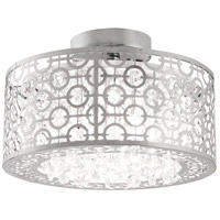 Eclipse 3 Light 16 inch Chrome Semi Flush Mount Ceiling Light