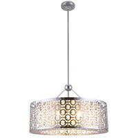 DVI Lighting Eclipse 6 Light Pendant in Chrome with Crystal Droplets DVP5836CH-CRY