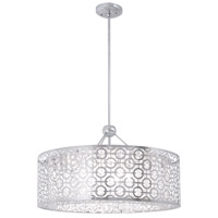 DVI DVP5836CH-CRY Eclipse 6 Light 23 inch Chrome Pendant Ceiling Light