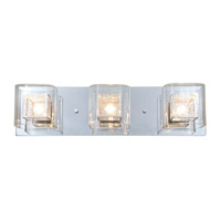 Trilogy 3 Light 24 inch Chrome Bathroom Vanity Wall Light