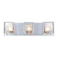 DVI Lighting Trilogy 3 Light Bathroom Vanity in Chrome with Clear Glass DVP5843CH