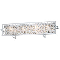 DVI DVP5873CH-CRY Eclipse 4 Light 25 inch Chrome Vanity Wall Light in 3