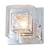 DVI Lighting Trilogy 1 Light Wall Sconce in Chrome with Clear Glass DVP5899CH