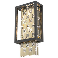 DVI DVP6301CPG/GR-CRY Amethyst 2 Light 8 inch Champagne Gold and Graphite ADA Wall Sconce Wall Light