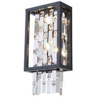 Amethyst 2 Light 8 inch Graphite ADA Wall Sconce Wall Light