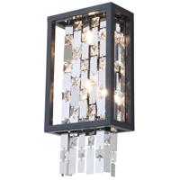 DVI DVP6301GR-CRY Amethyst 2 Light 4 inch Graphite ADA Sconce Wall Light