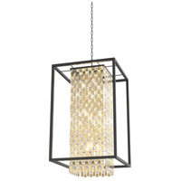 DVI DVP6310CPG/GR-CRY Amethyst 9 Light 22 inch Champagne Gold and Graphite Foyer Pendant Ceiling Light