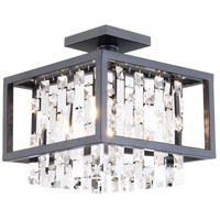 Amethyst 4 Light 12 inch Graphite Semi Flush Mount Ceiling Light