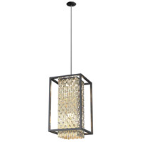 DVI DVP6317CPG/GR-CRY Amethyst 6 Light 16 inch Champagne Gold and Graphite Foyer Pendant Ceiling Light