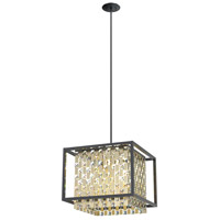 DVI DVP6320CPG/GR-CRY Amethyst 4 Light 18 inch Champagne Gold and Graphite Pendant Ceiling Light