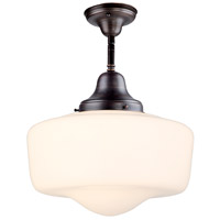 DVI DVP7511ORB Schoolhouse 1 Light 14 inch Oil Rubbed Bronze Semi Flush Mount Ceiling Light