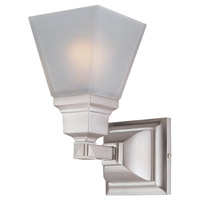 Aurora 1 Light 5 inch Satin Nickel Wall Sconce Wall Light