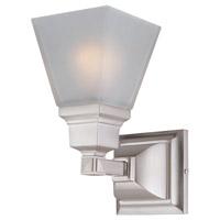 DVI DVP7601SN Aurora 1 Light 5 inch Satin Nickel Wall Sconce Wall Light