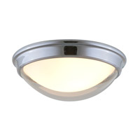 DVI Lighting Hyperion 2 Light Flush Mount in Chrome with Clear Outer Glass and Inner Half Opal Glass DVP8132CH-OP