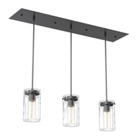 Essex Industrial 3 Light 26 inch Graphite Linear Pendant Ceiling Light
