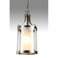 Essex 1 Light 10 inch Buffed Nickel Pendant Ceiling Light in Opal Glass