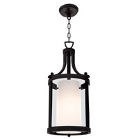 Essex 1 Light 10 inch Graphite Pendant Ceiling Light in Opal Glass