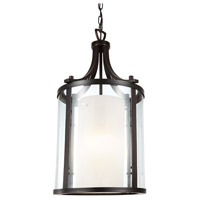 Essex 1 Light 10 inch Oil Rubbed Bronze Pendant Ceiling Light in Opal Glass