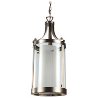 DVI DVP9011BN-OP Essex 2 Light 14 inch Buffed Nickel Pendant Ceiling Light in Opal Glass