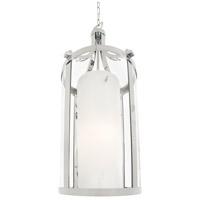 DVI DVP9011CH-OP Essex 2 Light 14 inch Chrome Pendant Ceiling Light in Opal Glass