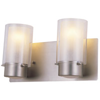 Essex 2 Light 14 inch Buffed Nickel Vanity Wall Light in Opal Glass