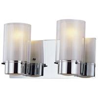 DVI DVP9022CH-OP Essex 2 Light 14 inch Chrome Vanity Wall Light in Opal Glass