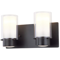 Essex 2 Light 14 inch Oil Rubbed Bronze Vanity Wall Light in Opal Glass
