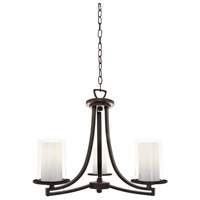 Essex 3 Light 20 inch Oil Rubbed Bronze Semi Flush Mount Chandelier Ceiling Light in Opal Glass