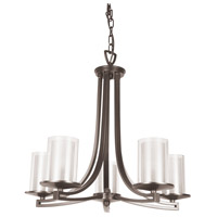 Essex 5 Light 25 inch Buffed Nickel Chandelier Ceiling Light in Opal Glass