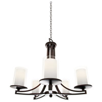 Essex 5 Light 25 inch Oil Rubbed Bronze Chandelier Ceiling Light in Opal Glass