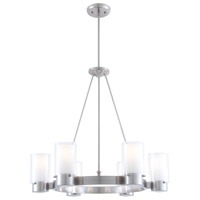 Essex 6 Light 27 inch Chrome Chandelier Ceiling Light in Opal Glass