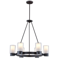 Essex 6 Light 27 inch Oil Rubbed Bronze Chandelier Ceiling Light in Opal Glass