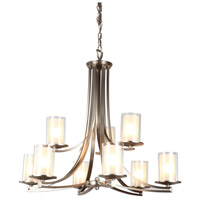 Essex 9 Light 34 inch Buffed Nickel Chandelier Ceiling Light in Opal Glass