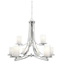 DVI DVP9029CH-OP Essex 9 Light 34 inch Chrome Chandelier Ceiling Light in Opal Glass