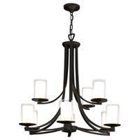 Essex 9 Light 34 inch Graphite Chandelier Ceiling Light in Opal Glass
