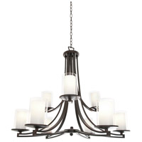 Essex 9 Light 34 inch Oil Rubbed Bronze Chandelier Ceiling Light in Opal Glass