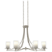 Essex 6 Light 36 inch Buffed Nickel Chandelier Ceiling Light in Opal Glass