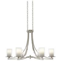 DVI DVP9036BN-OP Essex 6 Light 36 inch Buffed Nickel Chandelier Ceiling Light in Opal Glass