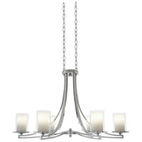 Essex 6 Light 36 inch Chrome Chandelier Ceiling Light in Opal Glass
