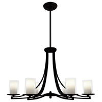 Essex 6 Light 36 inch Graphite Chandelier Ceiling Light in Opal Glass