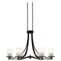 Essex 6 Light 36 inch Oil Rubbed Bronze Chandelier Ceiling Light in Opal Glass