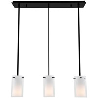 DVI DVP9053GR-OP Essex 3 Light 26 inch Graphite Mini Pendant Ceiling Light in Opal Glass Adjustable Canopy