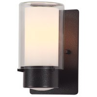 Essex 1 Light 8 inch Hammered Black Outdoor Sconce in Opal Glass