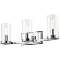 DVI DVP9083CH-CL Erin 3 Light 6 inch Chrome Vanity Wall Light